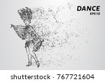 dance of the particles. the... | Shutterstock .eps vector #767721604