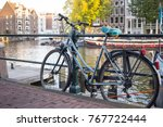autumn in amsterdam  the... | Shutterstock . vector #767722444