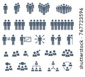set of business people team... | Shutterstock .eps vector #767723596
