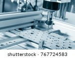 cnc milling machine working ... | Shutterstock . vector #767724583