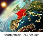 illustration of france as seen... | Shutterstock . vector #767725609