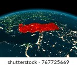country of turkey in red on... | Shutterstock . vector #767725669