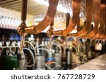 beer bar pub tap  counter with... | Shutterstock . vector #767728729