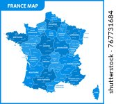 The Detailed Map Of The France...