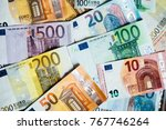 euro money. euro cash... | Shutterstock . vector #767746264