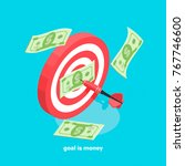 business and money  target and... | Shutterstock .eps vector #767746600