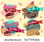 food  pastry  bakery  sweets ... | Shutterstock .eps vector #767749306