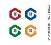 g logo initial letter design... | Shutterstock .eps vector #767750623