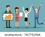 smiling business people  office ... | Shutterstock .eps vector #767751946