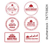 north pole post office sign ... | Shutterstock .eps vector #767753824