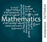 mathematical formulas are... | Shutterstock .eps vector #767754514