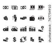 money and finance related icons ... | Shutterstock .eps vector #767754910