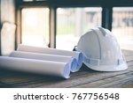 construction house. repair work....   Shutterstock . vector #767756548