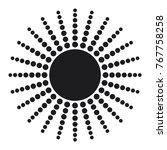 vector sun icon  simple sun... | Shutterstock .eps vector #767758258