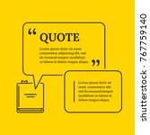 quote bubble with book in thin...   Shutterstock .eps vector #767759140