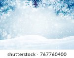 winter background  falling snow ...   Shutterstock . vector #767760400