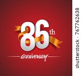 86th anniversary logotype with... | Shutterstock .eps vector #767762638