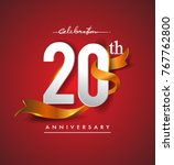 20th anniversary logotype with... | Shutterstock .eps vector #767762800