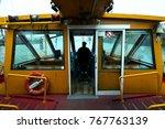 capitan of river boat at work | Shutterstock . vector #767763139