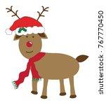 merry christmas reindeer   Shutterstock .eps vector #767770450