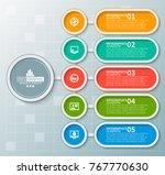 vector abstract 3d paper... | Shutterstock .eps vector #767770630