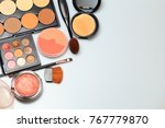 makeup products  on white... | Shutterstock . vector #767779870
