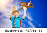 kids fantasy. child playing... | Shutterstock . vector #767786458