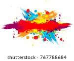 abstract vector splatter color... | Shutterstock .eps vector #767788684