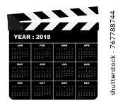 2018 calendar template modern...   Shutterstock .eps vector #767788744