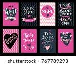 set of love quotes. saint... | Shutterstock .eps vector #767789293