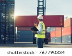 foreman control loading...   Shutterstock . vector #767790334