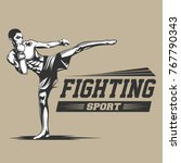 fighter logo vector | Shutterstock .eps vector #767790343