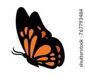 Stock vector cartoon butterfly vector illustration 767793484