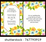 invitation with floral... | Shutterstock .eps vector #767793919