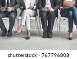 group of diverse people are... | Shutterstock . vector #767796808