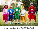 superhero kids with superpowers | Shutterstock . vector #767796844