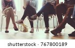 diverse group of people in a... | Shutterstock . vector #767800189