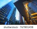 toronto skyline in financial... | Shutterstock . vector #767801458