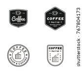 coffee logo set vintage element ... | Shutterstock .eps vector #767804173