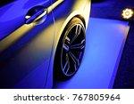 luxury car show | Shutterstock . vector #767805964