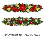 vector christmas fir decoration ... | Shutterstock .eps vector #767807638