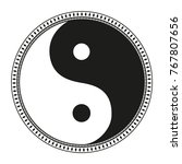 yin and yang. zentangle. hand... | Shutterstock .eps vector #767807656