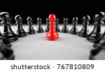 leadership concept  red pawn of ... | Shutterstock . vector #767810809