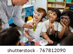 happy kids at elementary school | Shutterstock . vector #767812090
