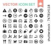 public icon set | Shutterstock .eps vector #767814118