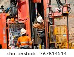 core drilling for exploration | Shutterstock . vector #767814514