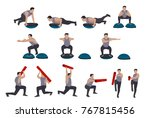 vector male fitness doing... | Shutterstock .eps vector #767815456
