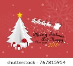 vector of merry christmas and... | Shutterstock .eps vector #767815954
