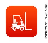 stacker loader icon digital red ... | Shutterstock .eps vector #767816800