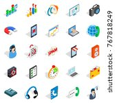 project work icons set.... | Shutterstock .eps vector #767818249